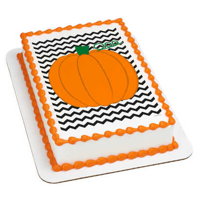 Chevron Pumpkin PhotoCake® Image