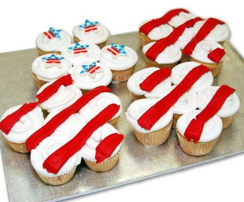 Stars & Stripes Cupcakes - (24 Cupcakes)