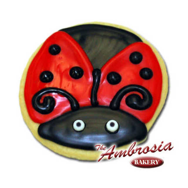 Decorated Ladybug Cut-Out Cookie