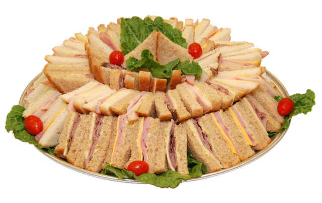 White Bread Sandwich Tray (Variety shown in image.)