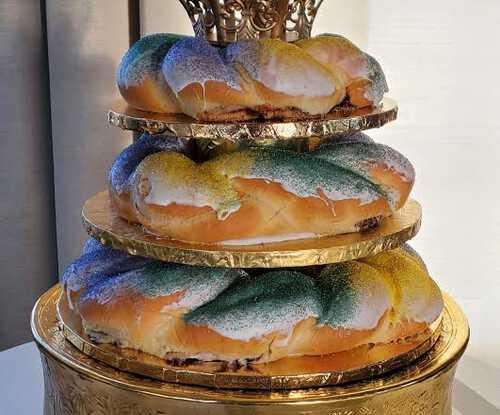 Tiered Groom's Cake King Cake!