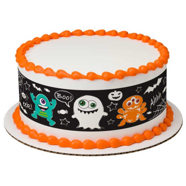 Doodle Monster PhotoCake® Edible Image® Strips