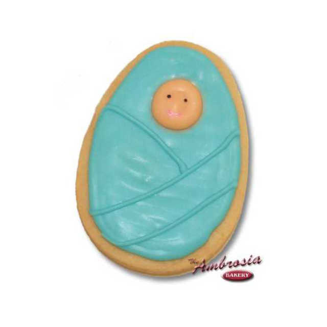 Decorated Baby in Blanket Cut-Out Cookie