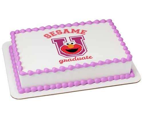 Sesame Street® Sesame Graduate PhotoCake® Edible Image®