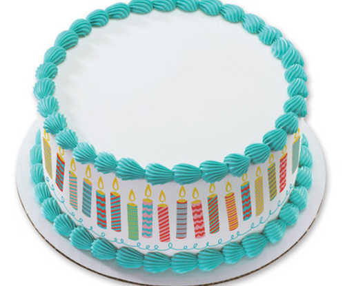 Birthday Blowout Candles PhotoCake® Image Strips