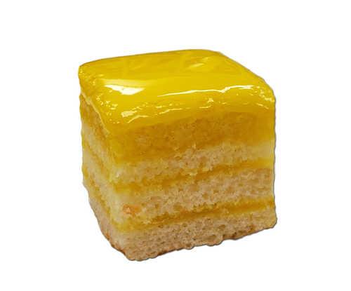 Lemon Doberge Squares - White Almond Cake