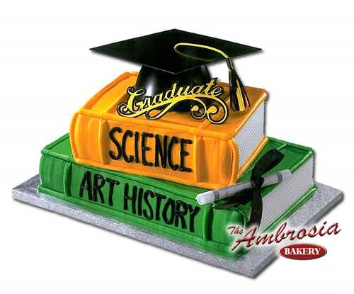 Graduation Mega Hat Stacked Books