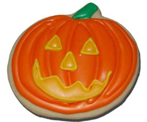Decorated Pumpkin Cut-Out Cookie