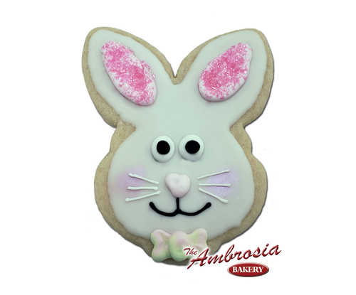 Decorated Bunny Cut Out Cookie