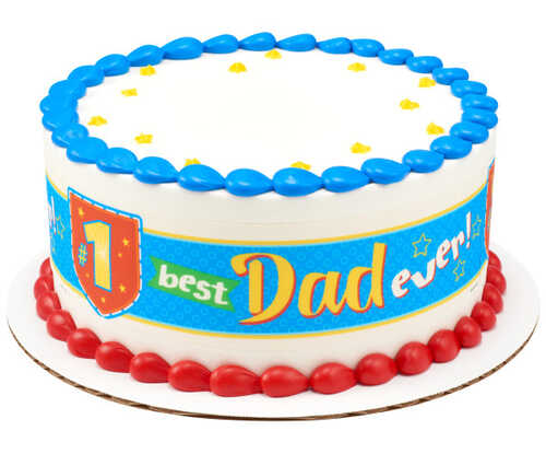 #1 Best Dad Ever! PhotoCake® Edible Image® Strips