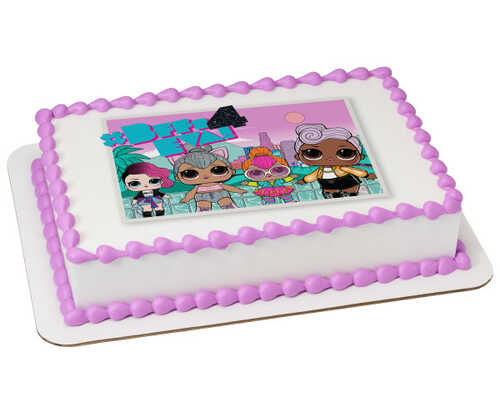 L.O.L. SURPRISE!™ Shine Bright PhotoCake® Edible Image®