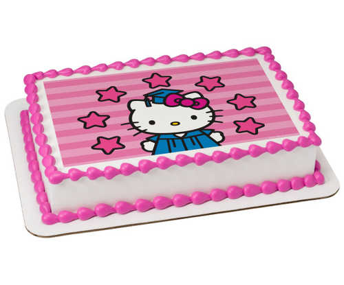 Hello Kitty® Shine Bright PhotoCake® Edible Image®