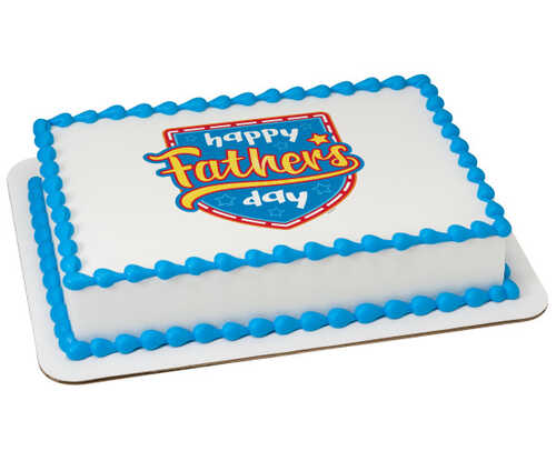Happy Father's Day Hero PhotoCake® Edible Image®