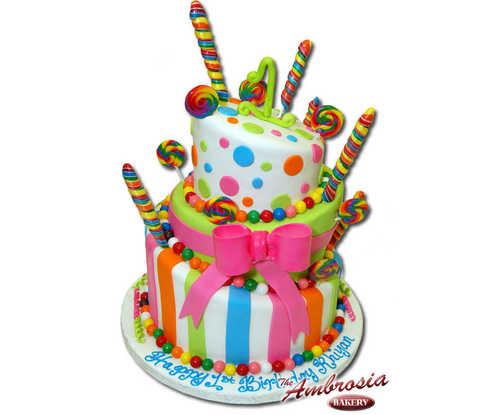 Whimsical Gum Ball Cake