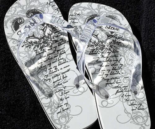 Just Married Flip Flops for Her