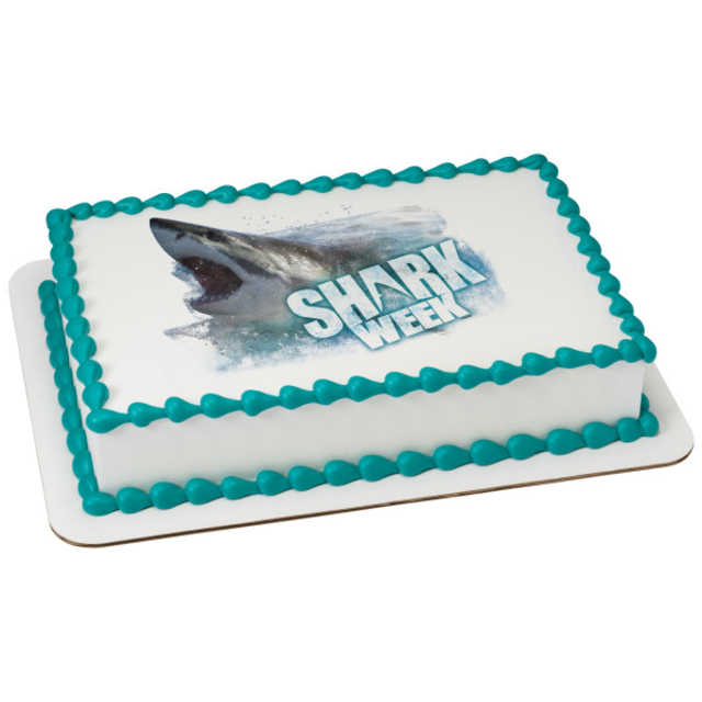 Discovery Shark Attack PhotoCake® Image