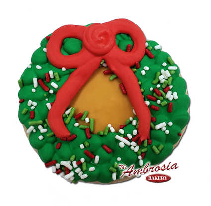 Christmas Wreath Cutout Cookie