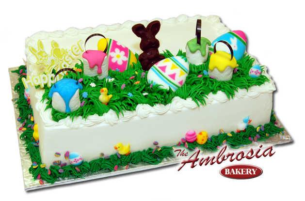 Chocolate Bunny on Easter Cake
