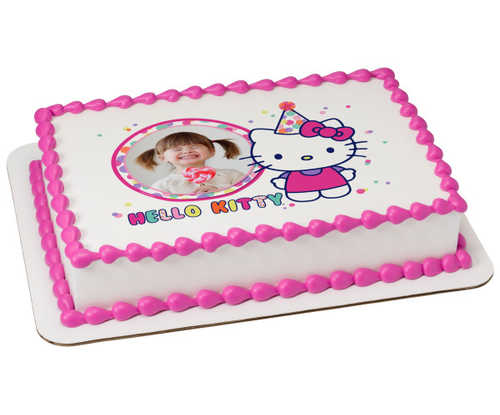 Hello Kitty® So Much Fun PhotoCake® Edible Image® Frame