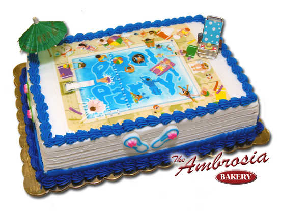 Swimming Pool Edible Image®